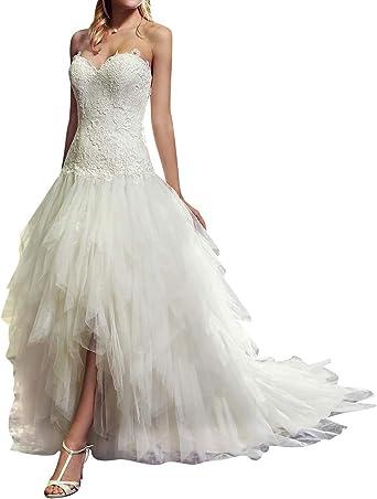 DUMOO Robe de mariée Prinzessin - Épaules