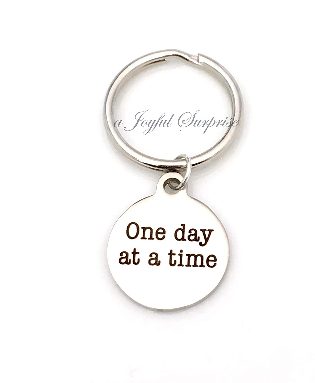 AA Keyring Thank you Gift CLEARANCE SALE Alcoholics Anonymous Key Chain One Day at a Time Keychain For Women or Men Anniversity of Sobriety Gift for Sponsor AA Keyring NA Present 30/% OFF