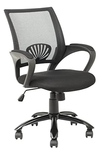 Mid Back Mesh Ergonomic Computer Desk Office Chair, Black, One Pack
