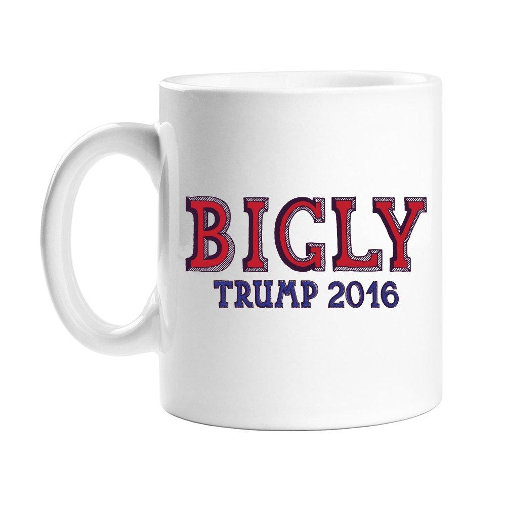 beef34c84c2 Amazon.com: Bigly Trump 2016 Coffee Mug: Kitchen & Dining