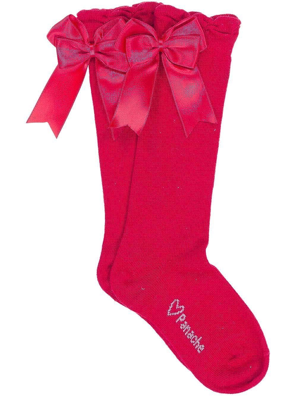 Carlomagno Socks Large Double Back Satin Bow