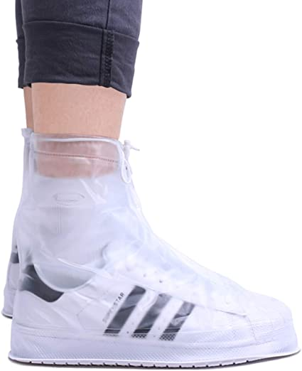 Reusable Rain Waterproof Overshoes Cover Shoes Anti Slip Boots Shoe Covers Clear