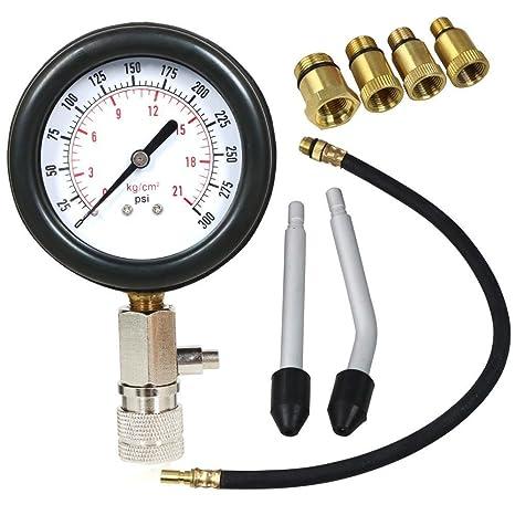 Popamazing cilindro Kit de probador de calibre de compresión Automotive Motos Motor de gasolina herramienta de prueba de presión Set: Amazon.es: Bricolaje y ...