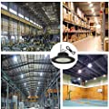 LED High Bay Light 150W, High Bay Lighting Fixture UFO Highbay Lights (600W Replacement)21000LM 1-10V Dimmable 5000K IP65 Waterproof AC100-277V for Warehouse Workplace Shopping Mall Exhibition Hall