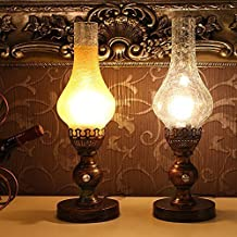 Injuicy Lighting Vintage Oil Kerosene Loft Desk Table Light Bedroom Reading Lamp Cafe Bar Living (Clear)