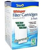 Tetra Whisper Filter Cartridges 3-Pack, Medium (Internal 2-10 gal / Power Filters 5-15 gal)