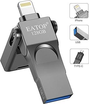 Amazon.com: EATOP - Memoria USB de 128 GB para iPhone ...