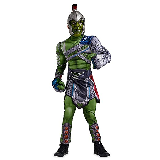36ac969a1849 Amazon.com: Marvel Hulk Costume for Kids - Thor: Ragnarok Size 3 Green:  Clothing