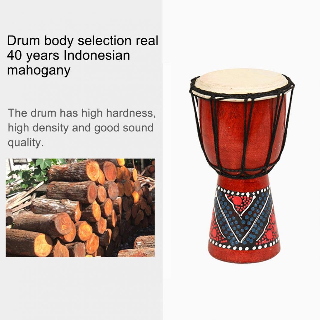 difcuyg5Ozw 4//6inch Wooden Painted African Hand Drum Hollow Out Handmade Percussion Music Djembe Ballad Kids Toy 20cm
