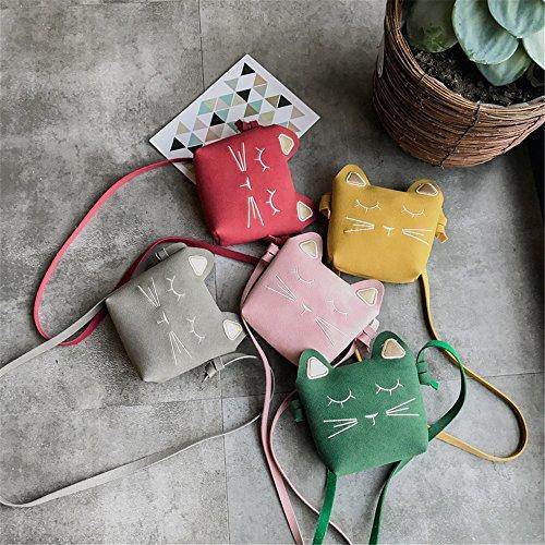 del mensajero cuerpo lindas bolso hombro Bolso gato del Verde cruzado princesa las niñas bolso del de del mini del bolso de la de bolsos SpxTUq
