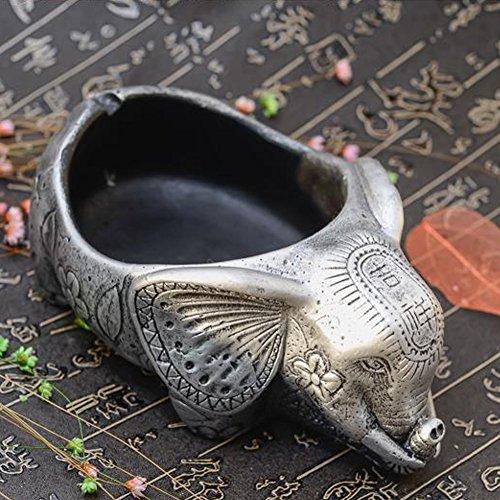 BERTERI Durable Stone Ashtray Practical Home Accessories Cigarette Ash Holder Novelty Animal Shaped Ashtray by BERTERI