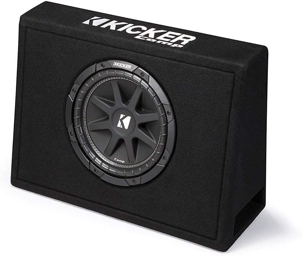 43TC104 Kicker Single 10-Inch Comp 4 Ohm 150W Loaded Subwoofer Enclosure Box