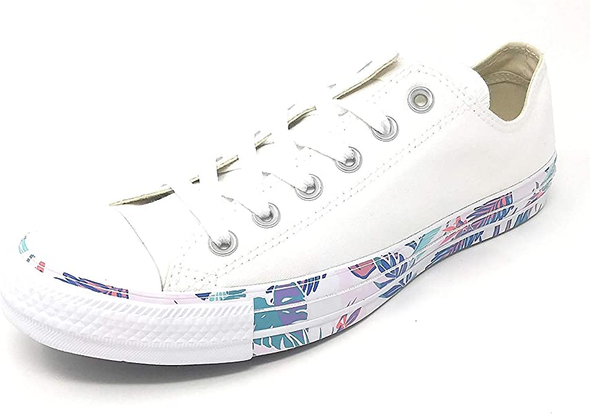 Amazon.com  Converse CTAS Chuck Taylor OX White Red Blue (10 Womens ... 829284283