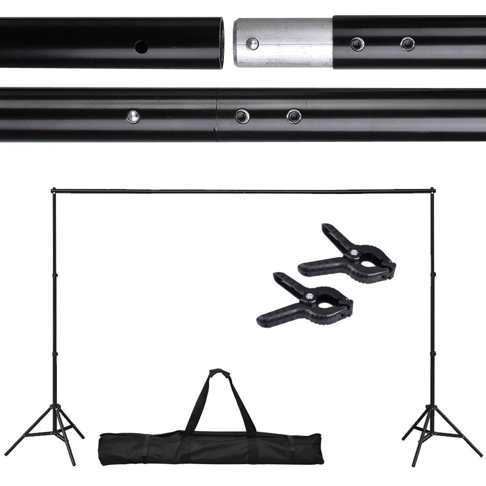 Adjustable Background Backdrop Support Stand Crossbar System Photo Studio 10 Ft by Jacoble