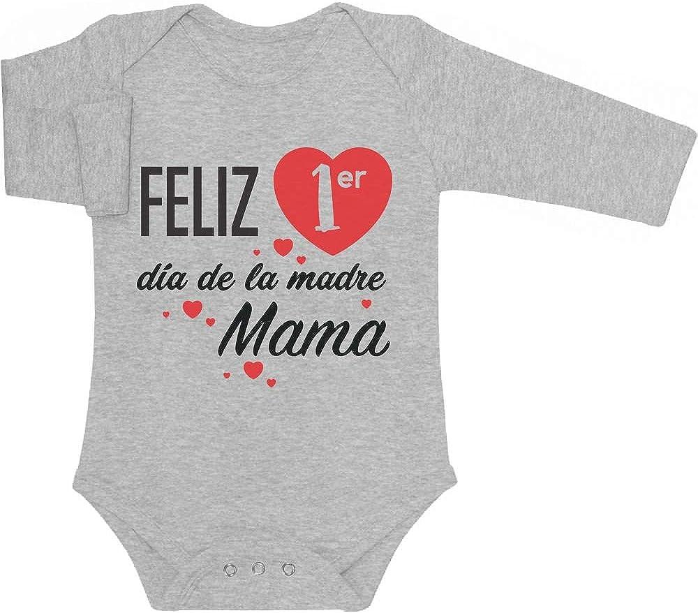 Body de Manga Larga para bebé - Regalo Feliz Primer Mamá día de la Madre
