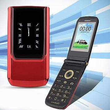 Kafuty Teclado de Doble Pantalla Teléfono Inteligente Flip ...