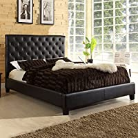 Home Creek Sascha Faux-Leather Tufted Full Bed