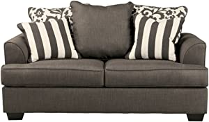 Ashley Furniture Signature Design - Levon Loveseat - Classic Style Couch - Charcoal Gray