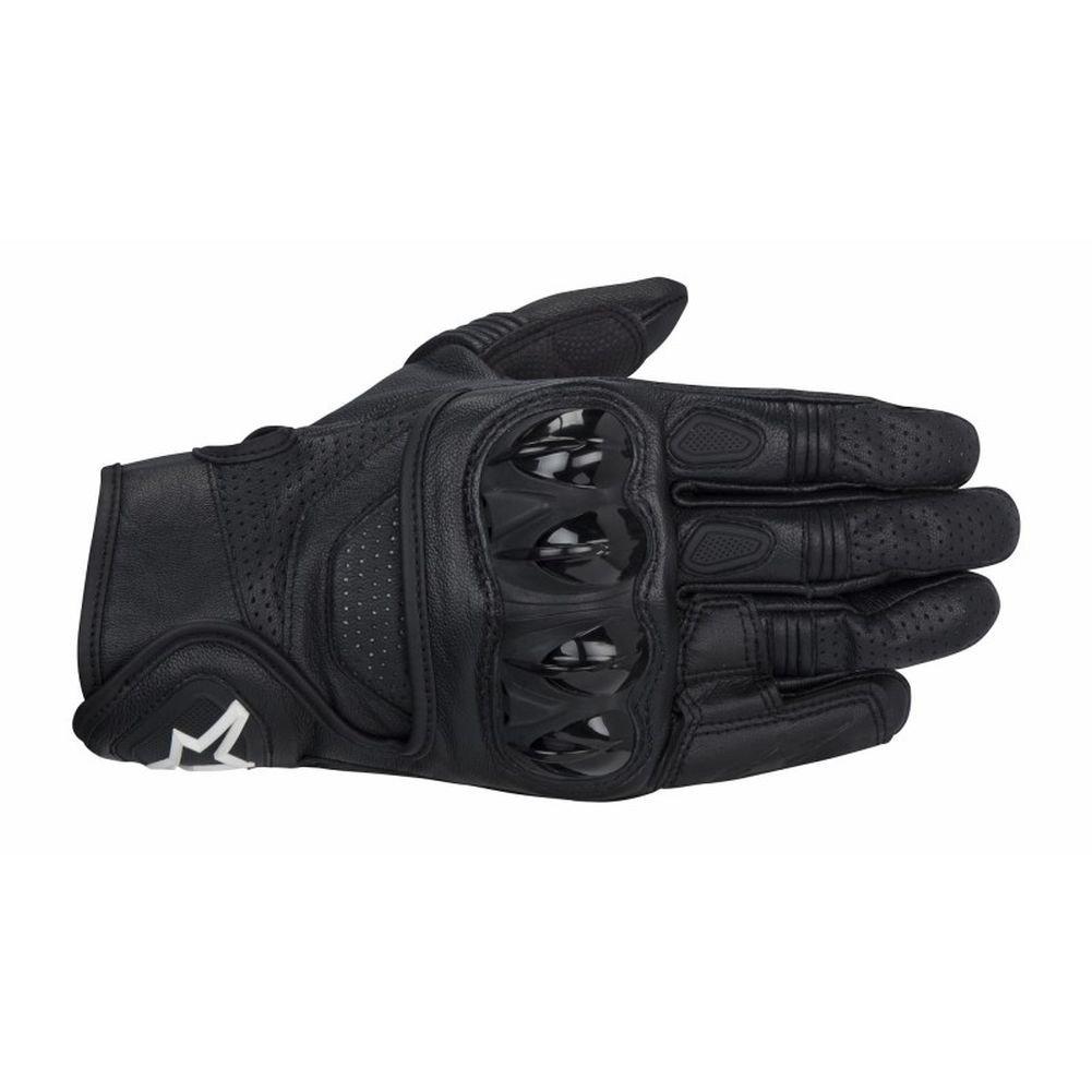 Alpinestars Celer Men's Leather Street Racing Motorcycle Gloves - Black / X-Large
