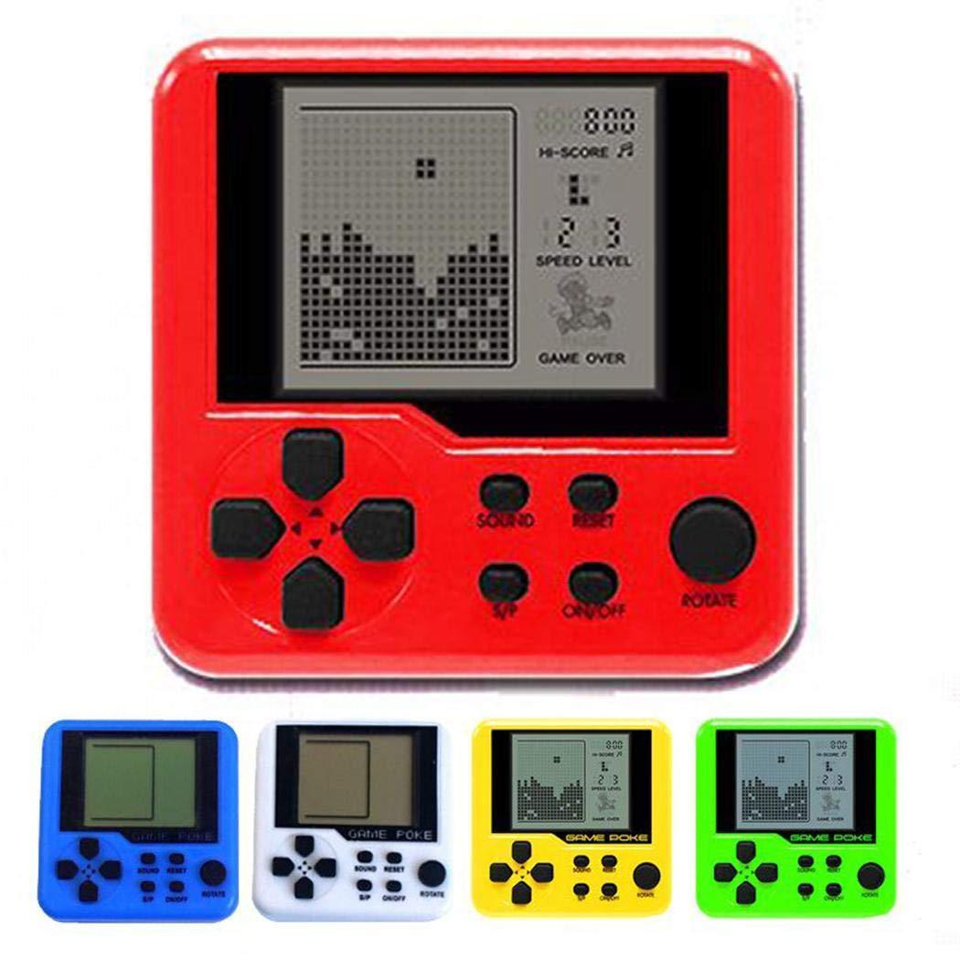 vobome Consola port/átil de Juegos para ni/ños Tetris Portable Mini Juegos port/átiles de Mano Videojuegos