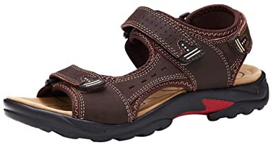 3dc8a2c471d1b Amazon.com | AGOWOO Womens Sandles Hook and Loop Outdoor Beach ...
