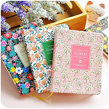 Amazon.com : 2019 Korean Vintage Sakura Pu Leather Flower ...