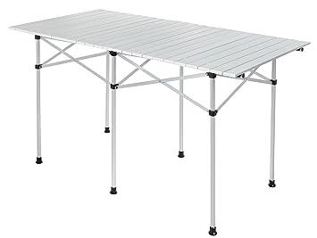 À Pliante Aluminium Campingtable Avec Table De Système Lamelles En rdCshQt