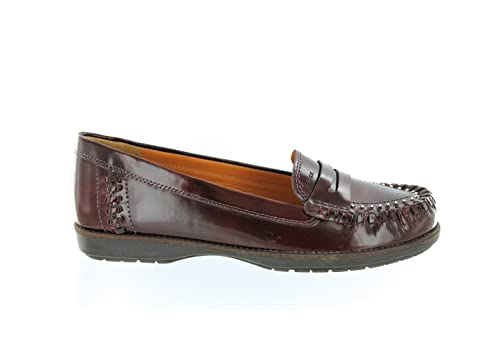 Geox - Mocasines de Piel para Mujer Rojo Rojo, Color Rojo, Talla 35: Amazon.es: Zapatos y complementos