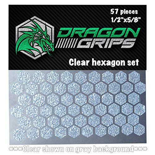 (Dragon Grips Clear Hexagon Grip Tape Decal Stickers for iPhone Cell Phone Remote Control Cameras)