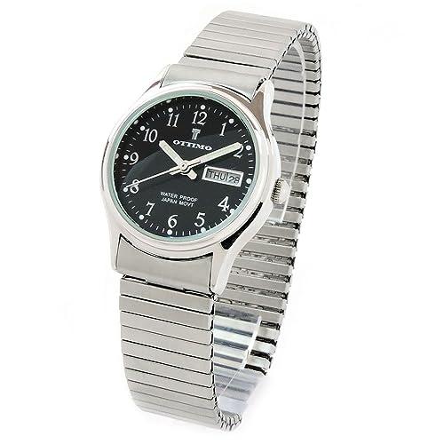 FTW Reloj de Pulsera para Mujer con Acabado Cepillado, Color Plateado y Negro: Amazon.es: Joyería