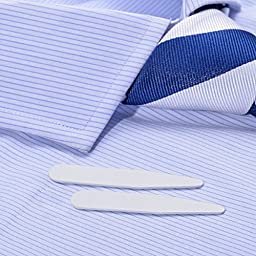 200 White Plastic Shirt Collar Stays in a Box - 3 Sizes (2\