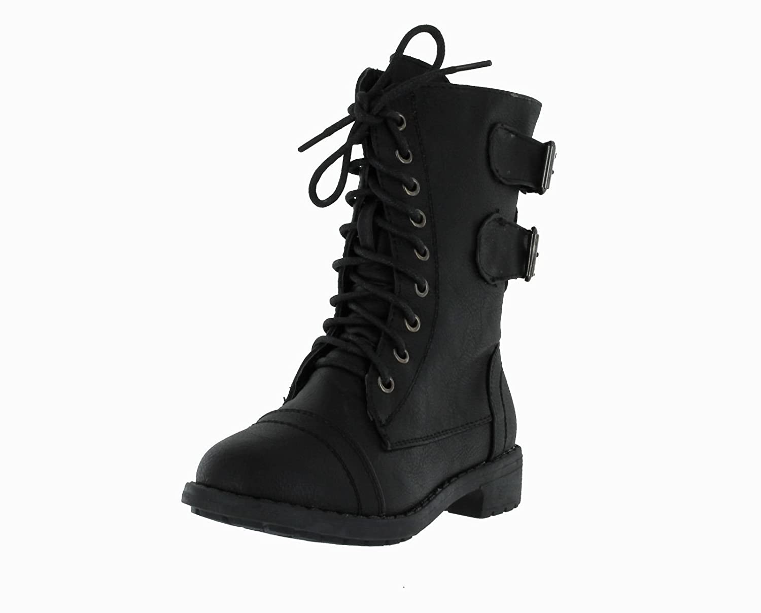 Amazon.com | Lucky Top Soda Pack72 Dome Girls Faux Leather Combat ...