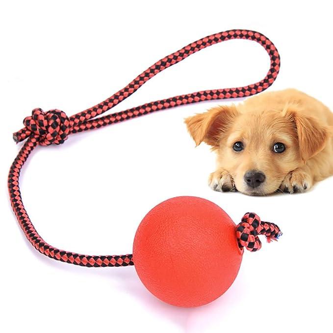 Pelota de juguete para mascotas, elástica, de goma maciza ...