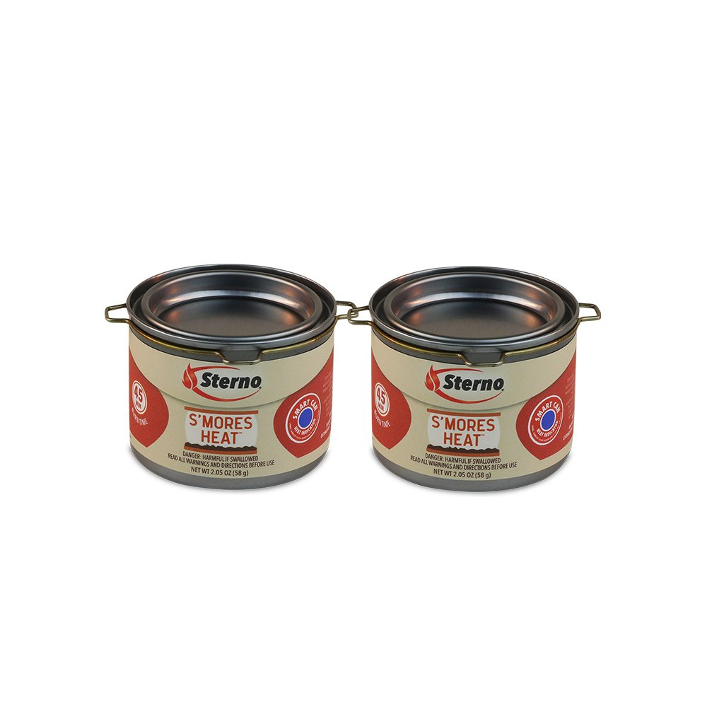 Sterno 20261 S'mores Heat Fuel Cans (2 Pack), Silver
