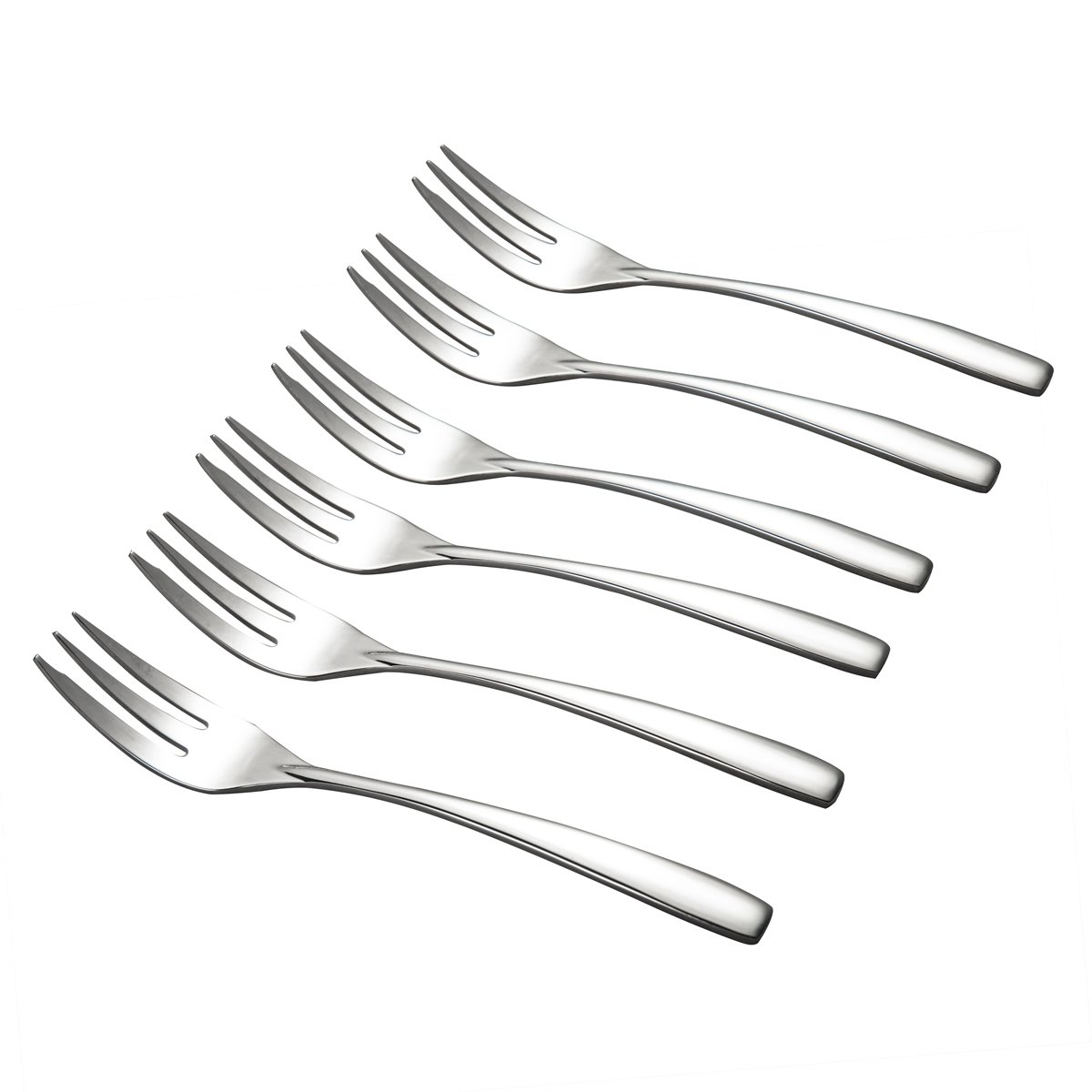 IMEEA Dessert Forks SUS304 Stainless Steel Salad Forks Appetizer Forks for Tastings Cakes 6-Inch, Set of 6