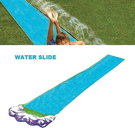Toboganes de Agua para jardín, tobogán de Agua Simple y tobogán Tobogán de Agua para niños al Aire Libre Césped Patio Trasero(Azul): Amazon.es: Deportes y aire libre