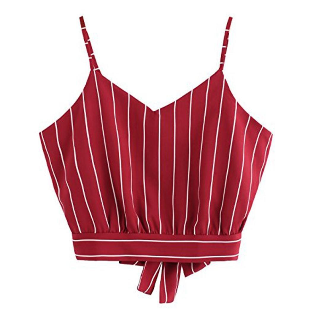 ❤️ Blusa de Tirantes, Con cuello en V Casual Camuflaje Cuello alto con cuello en V para mujer ABsolute