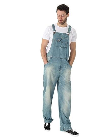 34bf07e31ec Uskees Stevie Super Loose Fit Mens Dungarees - Aged Blue Denim Bib Overalls  STEVIE1AGEDBLUE  Amazon.co.uk  Clothing