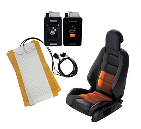 2Pcs 12V Universal Carbon Fiber Heated Car Seat Heating Pad Heater