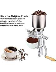 Molino de Grano de Café, Molino de Maiz Manual Amoladora de Cocina Ajustable Grano Tuerca