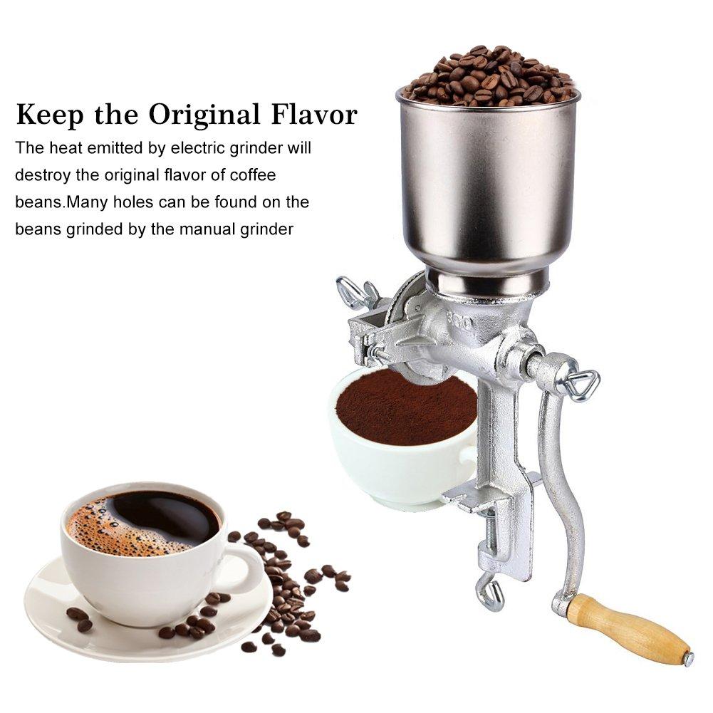 Fdittt Smerigliatrice Chicco di caff/è Cibo Grano Grano Manuale Farina davena Grinder Noce smerigliatrice Clip-on Design