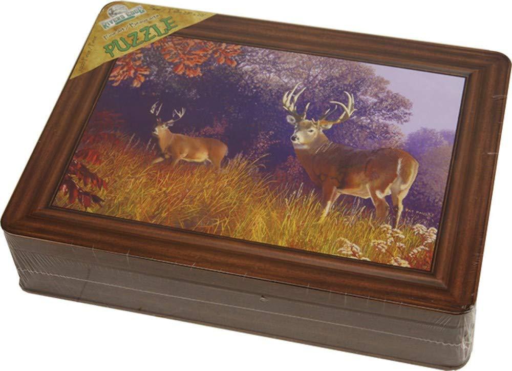 Deer Scene 1000 Puzzle in Tin