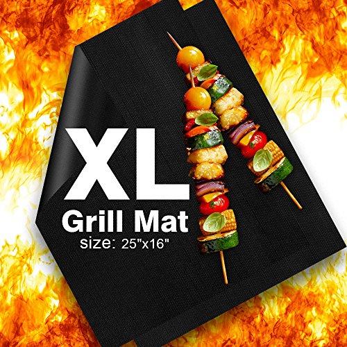 Cook Grid Set - Delamu BBQ Grill Mat, XL Grill Mats Non Stick, 25