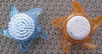 na-und 68380 Nagelbürste Handbürste Bimsstein Acryl Stern, Color:orange OSMA Werm