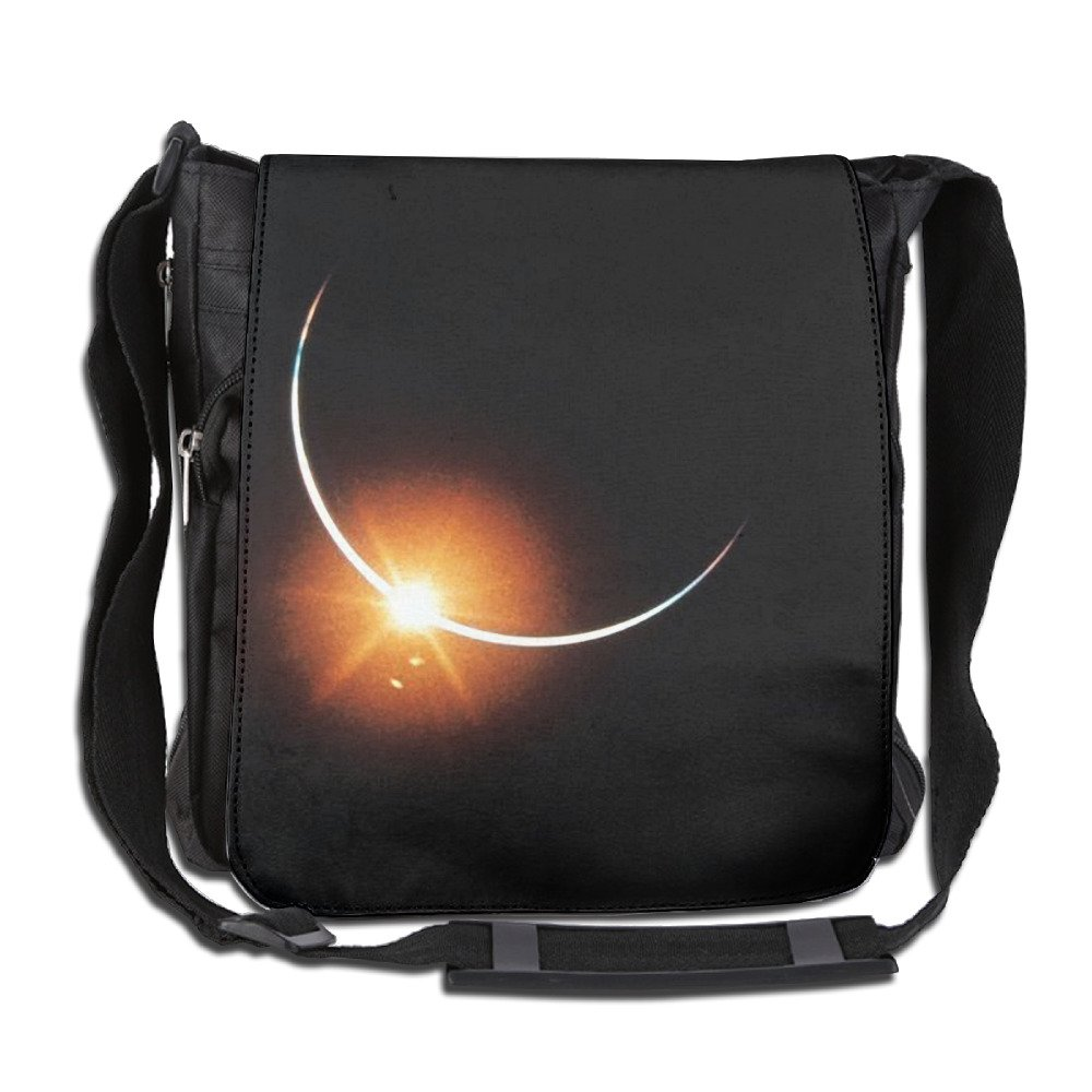Classic Solar Eclipse Messenger Bag Shoulder Bag Outdoor Sports Crossbody Bag Side Bag For Men Women