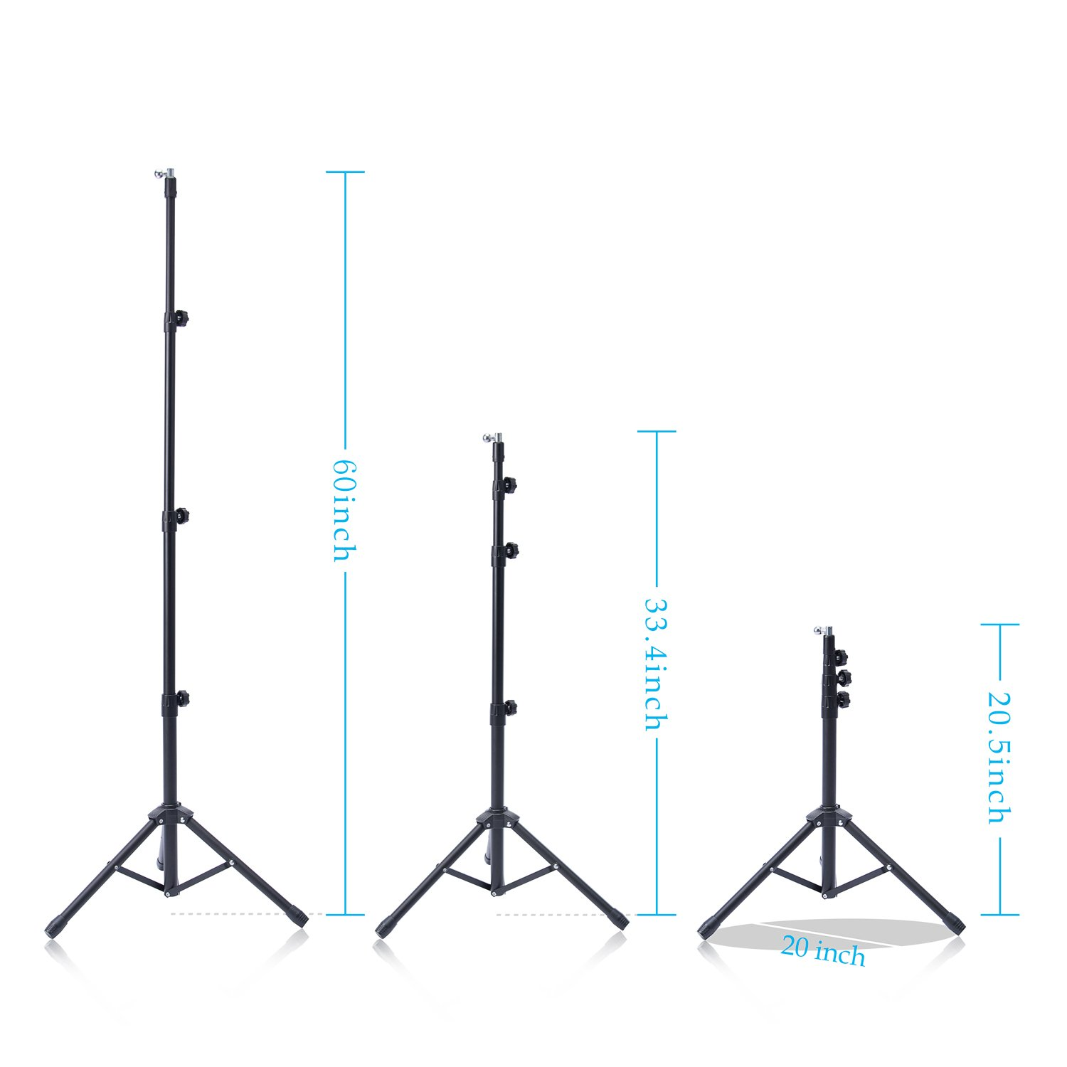 T-Sign Reinforced IPad Tripod Stand Mount - Foldable Floor Tablet Holder, Height Adjustable 360 Rotating Stand for iPad Mini/Air and More 7'' to 12'' Tablets, Carrying Case and Phone Holder As Gifts by T-SIGN (Image #4)