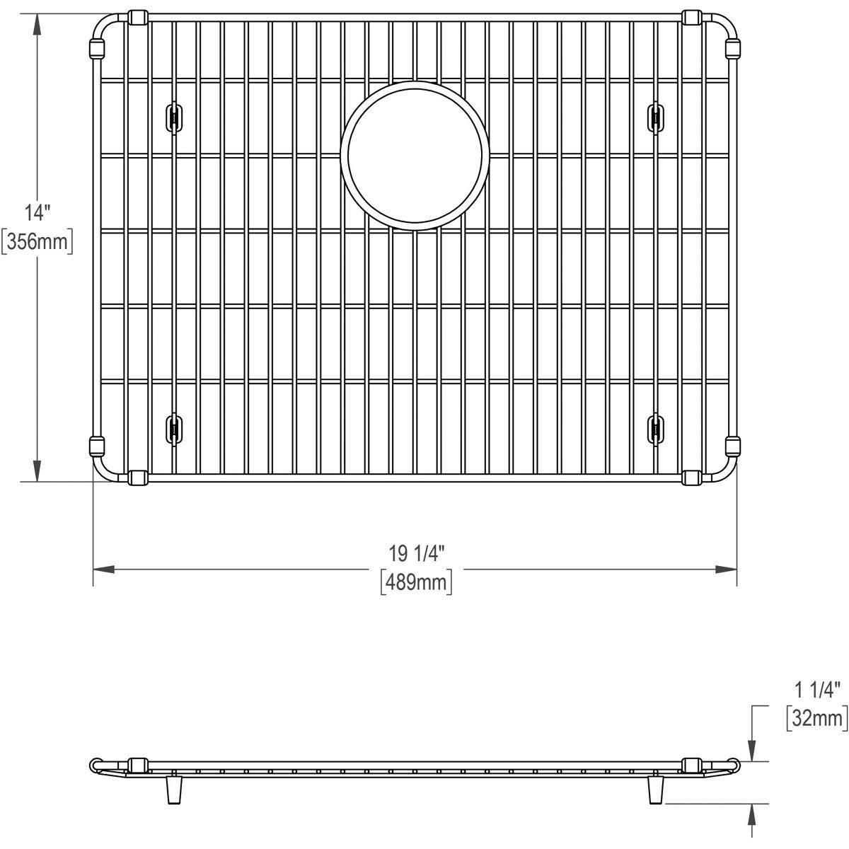 Elkay EBG1914 Stainless Steel Bottom Grid by Elkay (Image #4)
