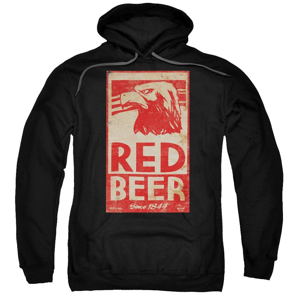 Archer - - Roter Bier-Label-Hoodie für Männer