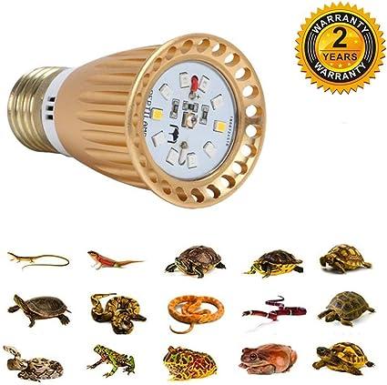 UVB 5.0 UVB 10.0 Reptile Light for Reptiles QSLQYB UVB Reptile Light,UVA UVB Lights Led for Turtles 4.0 W