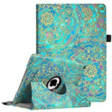 "Fintie iPad 9.7 inch 2018 2017 / iPad Air Case - 360 Degree Rotating Stand Protective Cover with Auto Sleep Wake for Apple iPad 9.7"" (6th Gen, 5th Gen) / iPad Air 2013 Model, Shades of Blue"